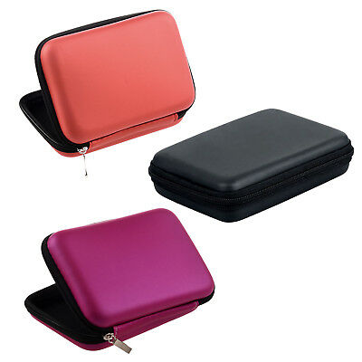 """Portable Hard Disk Drive Shockproof Zipper Cover Case 2.5""""HDD Bag rose Red F6"""