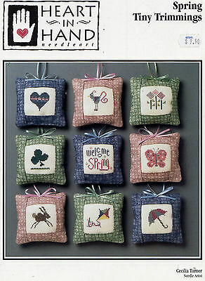 Cross Stitch Pattern Heart in Hand Welcome Spring Tiny Trimmings Butterfly