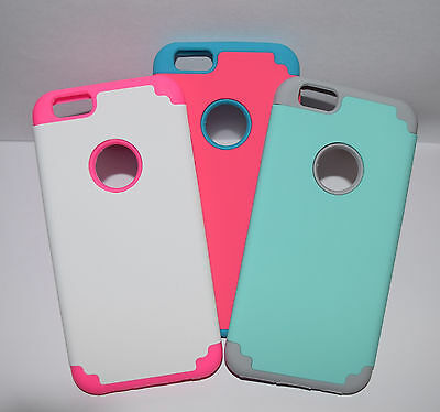 Hybrid Case Hard Rubber TPU Shockproof Skin Cover Slim For iPhone 6 iPhone 6S