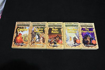 Forgotten Realms Novels AD&D TSR Cleric Quintet Dungeons and Dragons