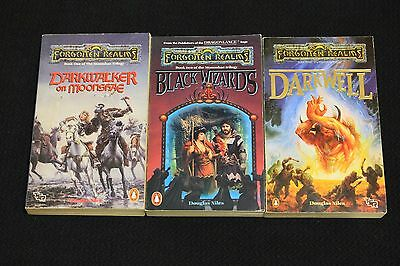 Forgotten Realms Novels AD&D TSR MoonshaeTrilogy Dungeons and Dragons