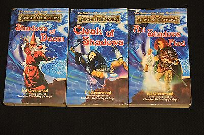 Forgotten Realms Novels TSR Shadow of the Avatar Trilogy Dungeons and Dragons