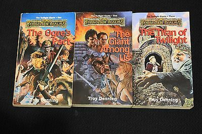 Forgotten Realms Novels AD&D TSR Twilight Giants Dungeons and Dragons