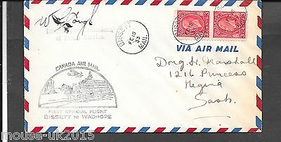 Canada 1933 Signed First Flight Cover (Bissett To Wadhope) Feb 15 1933