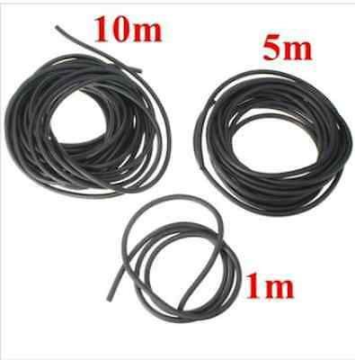 2X5mm Black Natural Latex Rubber Surgical Band Elastic Tube Tubing  1m/5m/10m