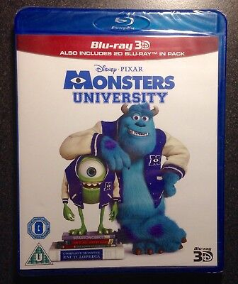 MONSTERS UNIVERSITY 3D Blu-Ray & Blu-Ray 2-Disc Set UK Region Free. Disney Pixar
