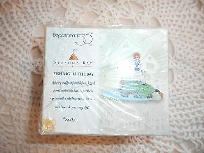 Dept 56 Seasons Bay Sunday Fishing In The Bay Original Box 53313 Sealed