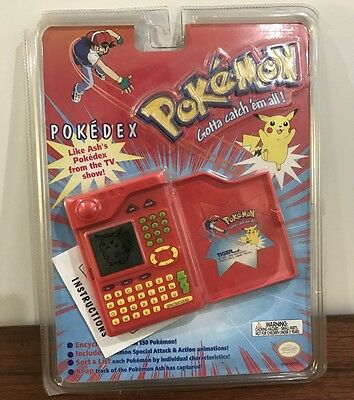 POKEMON Electronic Pokedex by Tiger Electronics 1999 New In Package Nintendo