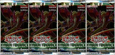 YuGiOh! Invasion: Vengeance 1st Edition New And Sealed Booster Packs x4