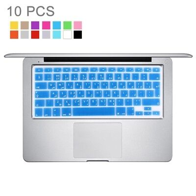 TECNICO 10 PCS Colorized Apple Laptop Silicone Keyboard Protector Protective Fi
