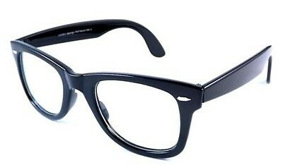 Black Frame Retro Men Women's Clear Lens Glasses Spectacles 50's