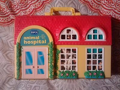 Vintage Puppy in My Pocket Animal Hospital 1996 with Additional Animals & Pieces