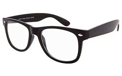 Small Black Geek Nerd Clear Lens Fashion Glasses VTG Nerd Horn Rim Hipster