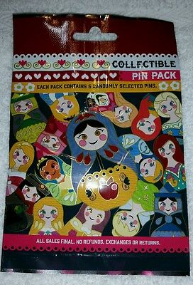 Disney Pin NESTING DOLLS Mystery Pack Random SEALED Set of 5