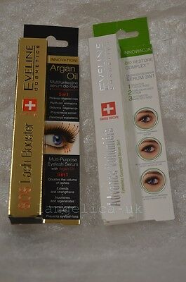 EVELINE EYELASH SERUM WITH ARGAN OIL 5 IN 1 + Advance Volumiere 3v1 serum