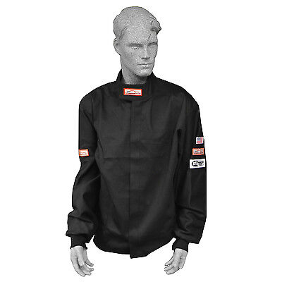 Fire Suit Racing Jacket Sfi 3-2A/1 Black Small Medium Large Xl 2X 3X