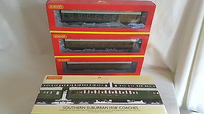 Hornby R4378 Southern Suburban Sr Maunsell Coach Pack Mint Boxed