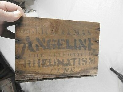 rare WOODEN CRATE KAUFFMANS RHEUMATISM CURE HAMILTON OHIO