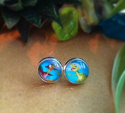 The Land Before Time Ducky And Petrie Cute Kids Children Pair Stud Earrings 10mm