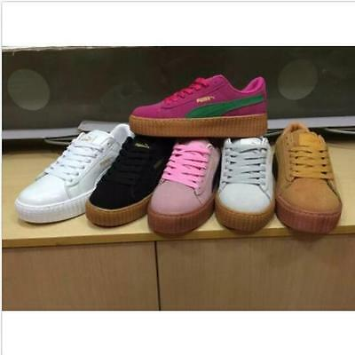 PumaS CREEPERings SUEDE Rihanna WMNS Creeper X for Men and Women shoes Big Size