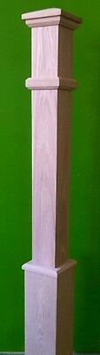"""Mission Style Box Newel Post 5"""" White Oak; 10% Off For Large Orders"""
