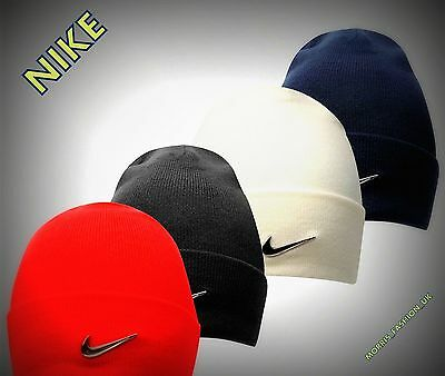 Boys  Nike Swoosh Stylish Fold Over Style Winter Beanie Hat Headwear   S/M