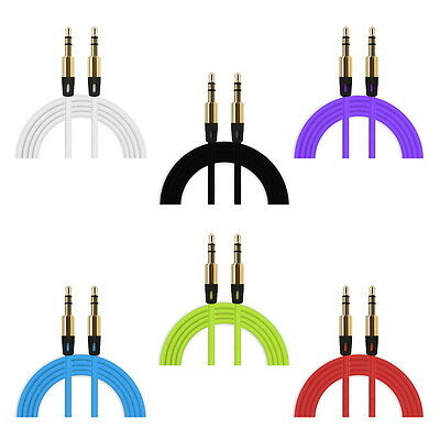 1m farbige 3,5 mm Klinke Kabel Audio Stereo Klinkenkabel slim