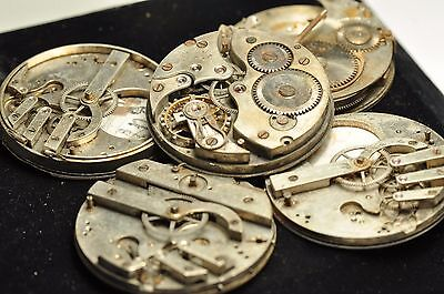 lot of Antique pocket watch movement for parts Repair.