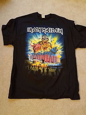 REAL Iron Maiden Book Of Souls 2016 Tour Concert X-Large Shirt Los Angeles Forum