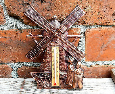 Vintage Retro Wall Thermometer - Windmill Holland Dutch - Mid Century