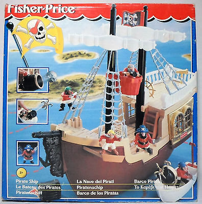 Fisher Price 1996 Pirate Ship European Italy Boxed Misb Sealed Very Rare