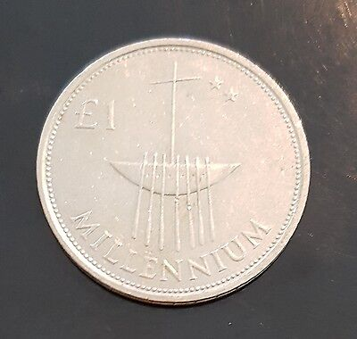 Irish Ireland 1 Pound Millennium Coin 2000