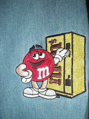 Used Collector's Vintage M & M's Vending Blue Shirt Size Med.  Made By Pro Elite