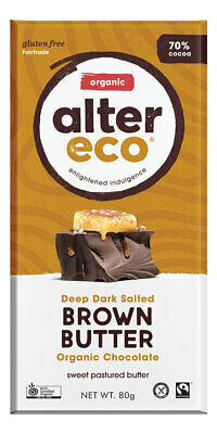Organic Chocolate - Dark Brown Butter 80g - Alter Eco