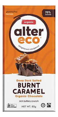 Organic Dark Burnt Caramel Chocolate 80g - Alter Eco