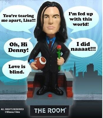 NEW The Room Talking Johnny Bobblehead Tommy Wiseau
