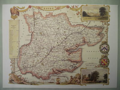 Essex Repro 1830 Thomas Moule map County Maps of Old England Gift