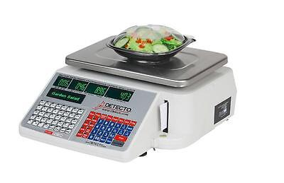 Cardinal Detecto DL1030  30 lb. Digital Price Computing Scale with Printer