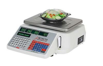 Detecto Digital Price Computing Scale with Printer 60lb