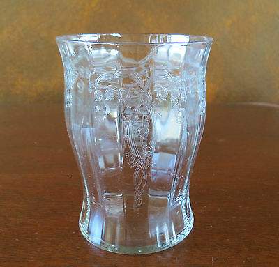"""Fostoria #879 Lily of the Valley #241 Etch 10 oz 4"""" Flat Tumbler(s)"""