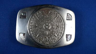 Vintage Mexican belt buckle with Abalone inlay #2