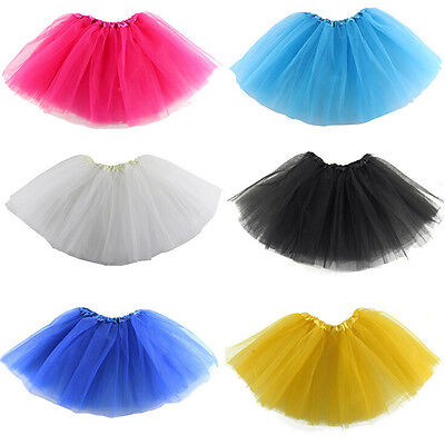 Teens Girl Tutu Ballet Skirt Tulle Costume Fairy Party Hens Nigh  1X  IO