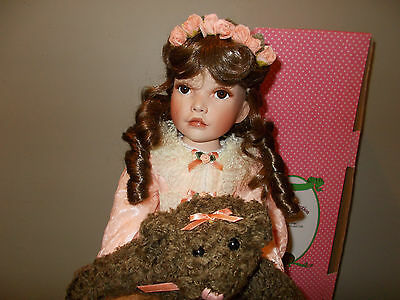 """Jessica  by Artist Patricia Rose Paradise Galleries 24"""" Porcelain Doll COA A784"""