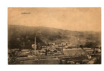 POSTCARD Junkerath Germany railroad shops, US soldier mail AEF Censored 1919