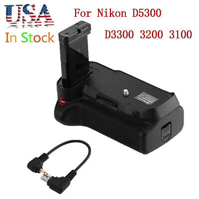 Battery Grip for Nikon D5300 D3300 D3200 D3100 Camera EN-EL14 Holder+IR Remote