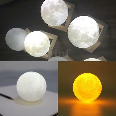 3D LED Light Moon Sky Night  Bulb USB Touch Switch 2 Colors Change Bedroom Decor