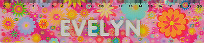 *PORTA CRAFT* 3D Personalised Rulers 20cm Evelyn