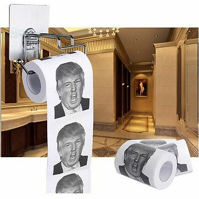 Donald Trump Hillary Clinton Humour Toilet Paper Tissue Roll Presidential Novelt