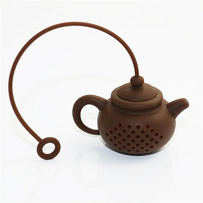 Pop Creative Silicon Tea Teapot Shaped Tea Bag Filter Safely Cleaning Infuser CN