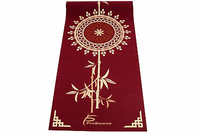 """ProSource Tao Yoga Exercise Pilates Mat 3/16"""" (5mm) Thick Exclusive Design"""